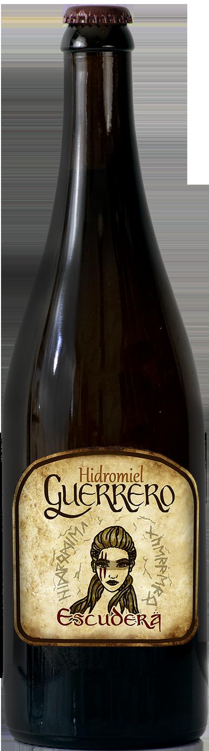 Botella de Hidromiel Guerrero escudera de 750ml